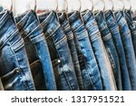 many models of jeans from... | Shutterstock . vector #1317951521