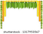 happy ugadi indian flower... | Shutterstock .eps vector #1317953567
