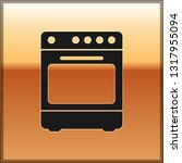 black oven icon isolated on... | Shutterstock .eps vector #1317955094