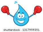 blue water drop cartoon...   Shutterstock . vector #1317959351