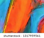 abstraction painted in oil.... | Shutterstock . vector #1317959561