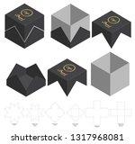 box packaging die cut template... | Shutterstock .eps vector #1317968081