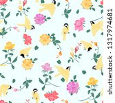 seamless tit pattern with... | Shutterstock .eps vector #1317974681