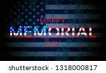 happy memorial day background.... | Shutterstock . vector #1318000817