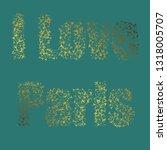 i love paris vector... | Shutterstock .eps vector #1318005707
