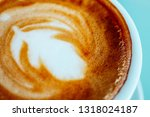 abstract cappuccino coffee... | Shutterstock . vector #1318024187