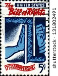 usa   circa 1966  a stamp... | Shutterstock . vector #131802491