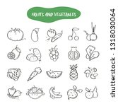 hand drawn line style icons of... | Shutterstock .eps vector #1318030064
