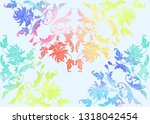traditional chinese seamless... | Shutterstock .eps vector #1318042454