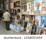 Small photo of Damascus, Syria, October 22, 2010: Kitschy art in the old city of Damascus