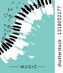 piano concert poster. music... | Shutterstock .eps vector #1318052177