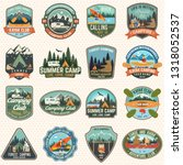 set of camp and kayak club... | Shutterstock .eps vector #1318052537