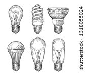 set of types of lamps isolated... | Shutterstock .eps vector #1318055024