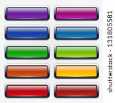 colorful website buttons | Shutterstock .eps vector #131805581
