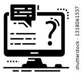 faq glyph vector icon    Shutterstock .eps vector #1318061537