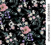 trendy bright floral pattern in ... | Shutterstock .eps vector #1318064684