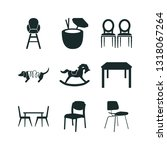 9 chair icon set | Shutterstock .eps vector #1318067264
