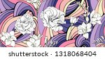abstract summer colorful... | Shutterstock .eps vector #1318068404