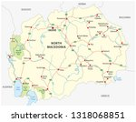 north macedonia road and...   Shutterstock .eps vector #1318068851