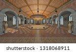 3d cg rendering of residence  | Shutterstock . vector #1318068911