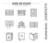 vector set of books icons in... | Shutterstock .eps vector #1318076774