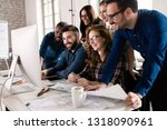 picture of architects working... | Shutterstock . vector #1318090961