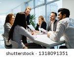 business people working... | Shutterstock . vector #1318091351