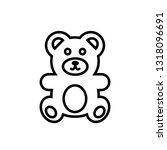 teddy bear icon  vector... | Shutterstock .eps vector #1318096691