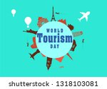 world tourism day vector... | Shutterstock .eps vector #1318103081