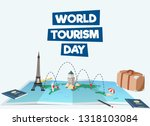 world tourism day vector... | Shutterstock .eps vector #1318103084