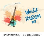 world tourism day vector... | Shutterstock .eps vector #1318103087