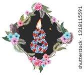 frame flower with number 8 | Shutterstock .eps vector #1318115591