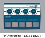 landscape wide flyer template.... | Shutterstock .eps vector #1318118237