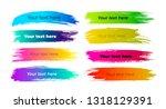 set of lower third brush pack.... | Shutterstock .eps vector #1318129391