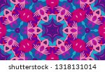 whimsical ethnic seamless... | Shutterstock .eps vector #1318131014