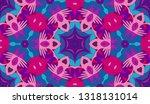 whimsical ethnic seamless...   Shutterstock .eps vector #1318131014