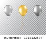 helium balloons set isolated on ... | Shutterstock .eps vector #1318132574