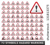 triangular warning hazard... | Shutterstock .eps vector #131813375