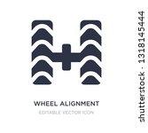 wheel alignment icon on white... | Shutterstock .eps vector #1318145444