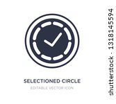 selectioned circle icon on...