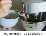 food processor to kneading of... | Shutterstock . vector #1318152914