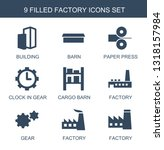 factory icons. trendy 9 factory ... | Shutterstock .eps vector #1318157984