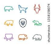 mammal icons. trendy 9 mammal... | Shutterstock .eps vector #1318158074