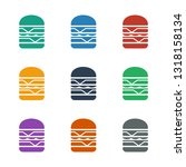 double burger icon white... | Shutterstock .eps vector #1318158134