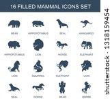16 mammal icons. trendy mammal... | Shutterstock .eps vector #1318159454
