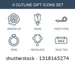 gift icons. trendy 6 gift icons.... | Shutterstock .eps vector #1318165274