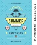 summer beach party flyer or...   Shutterstock .eps vector #1318167311