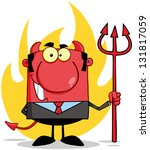 smiling devil boss with a... | Shutterstock .eps vector #131817059