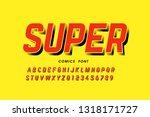 comics style font design ... | Shutterstock .eps vector #1318171727
