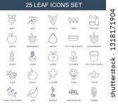 leaf icons. trendy 25 leaf... | Shutterstock .eps vector #1318171904